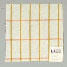 Plain-woven windowpane plaid of gold and orange stripes on a white ground. Surface Pattern, Pattern Art, Surface Design, Pretty Patterns, Color Patterns, Textile Prints, Textile Design, Alexander Girard, Pattern Illustration