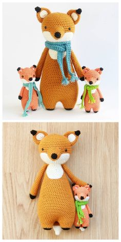 Fox crochet patterns by Little Bear Crochets: www.littlebearcrochets.com ❤️ #littlebearcrochets #amigurumi