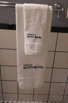 Bates Motel Towel Set (1 Hand Towel U0026 1 Bath Towel, Embroidered) Part 34