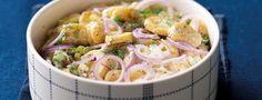 Tvarůžková pomazánka s pivem Potato Salad, Appetizers, Potatoes, Snacks, Chicken, Meat, Ethnic Recipes, Food, Fine Dining