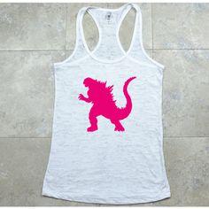 Godzilla Shirt/Tank Top - Sport Tank Tops - Godzilla T Shirts - Funny Weight Lifting Shirts - Fitness Tank Top