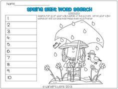 A Kindergarten Smorgasboard Guest Post & Springy Sight Word Freebie!