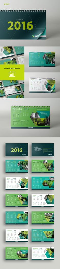 Desk Calendar on Behance