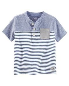 Baby Boy Colorblock Striped Tee from OshKosh B'gosh. Shop clothing & accessories from a trusted name in kids, toddlers, and baby clothes. Baby Boys, Baby Boy Tops, Baby Boy Shirts, Baby Boy Romper, Boys T Shirts, Carters Baby, Toddler Boy Fashion, Toddler Boy Outfits, Baby Kids Clothes