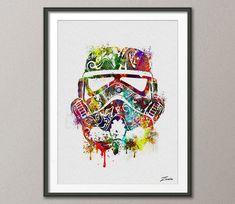 Star wars poster acuarela star wars: guerras estrellas de pintura ilustración arte imprimir pared regalo Poster poster pared decoración arte colgante de pared A111