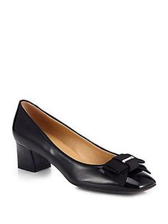 Salvatore Ferragamo My Muse Patent Leather Bow Pumps