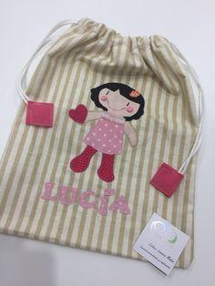 Bolsa de merienda personalizada para Lucía!!!!!