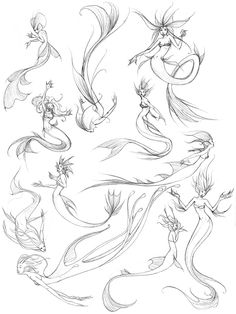 Mermaid Drawings | Mermaid sketches by ZombieLady