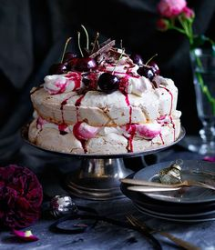 Cherry Ripe pavlova                                                                                                                                                      More