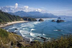 25 best state parks to visit Evergreen Forest, Ecola State Park, Oregon Waterfalls, Visit Oregon, Oregon Travel, Oregon Coast, Weekend Getaways, Coastal, Places Around The World