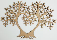 1 xMDF Wooden Heart Tree of Life Shape. Any laser processing marks can be removed by a light sanding or simply painting over. Heart Crafts, Tree Crafts, Decor Crafts, Butterfly Tree, Heart Tree, Wooden Hearts, Tree Of Life, Gift Tags, Embellishments