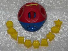 Vintage Tupperware Kid Tuppertoys Shape O Ball Toy Set