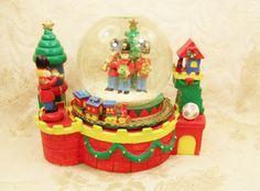 Music Globe Christmas Around the World Holiday Globe Snowflakes Toy Soldiers Wonderland | VintageTreasuresFound - Seasonal on ArtFire