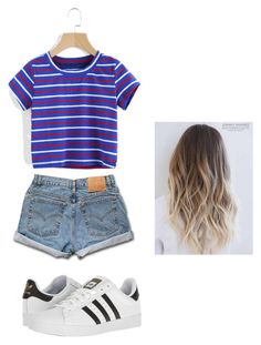 """""""Kristin"""" by aliah1202 on Polyvore featuring Levi's, WithChic and adidas"""