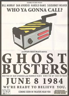 Ghostbusters (1984) / I thought this was real, then saw the misspelt surname of Dan Akroyd. Approve of the inventiveness though.