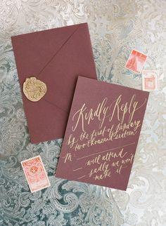 Featured Photographer: REBECCA YALE; wedding invitation idea