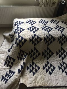 Flying Geese . http://www.ebay.co.uk/itm/Vintage-Graphic-Flying-Geese-Quilt-Indigo-And-White-/131621883351?ul_noapp=true&nma=true&si=Ickp5Kv3BrCLcFhCPl5kex%252B0UQk%253D&orig_cvip=true&rt=nc&_trksid=p2047675.l2557