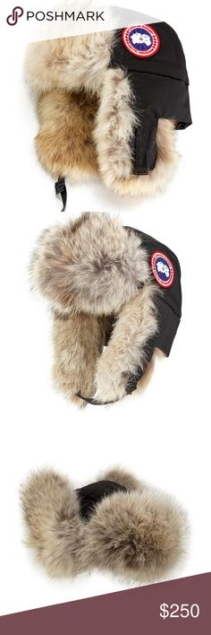 Canada Goose Coyote-Fur Ladies Aviator Hat Canada Goose Coyote-Fur Ladies  Aviator Hat 61 -Black-Noir S M 68F8490   NWT   100% AUTHENTIC Canada Goose  aviator ... 776c3400d100