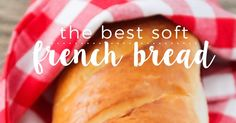 The Best Soft French Bread This soft and fluffy french bread is better than store-bought and so easy to make! Is there anything better than . Easy French Bread Recipe, Homemade French Bread, Easy Bread Recipes, Cooking Recipes, Baking Buns, Bread Baking, Homemade Dinner Rolls, Bread Ingredients, Delicious Sandwiches