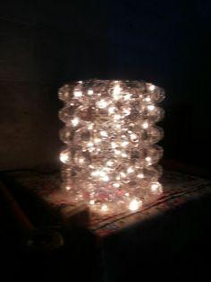 Plastic egg tray lamp!