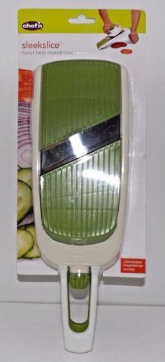 Chef'n Sleek Slice Handheld Collapsible Mandoline Green New #Chefn