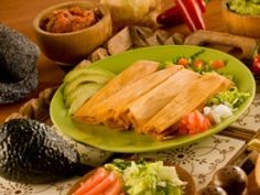 Tamales are a traditional Mexican food which are often eaten during the Christmas season.