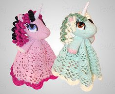 Easy Crochet Pony & Unicorn Lovey Pattern helps you create the perfect gift for little girls & babies! This beautiful security blanket is sure to bring joy! Crochet Unicorn Blanket, Crochet Lovey, Manta Crochet, Crochet Blanket Patterns, Cute Crochet, Crochet For Kids, Crochet Dolls, Knitting Patterns, Sewing Stuffed Animals
