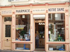 The old chemist in Boulogne-sur-Mer historic old town - unchanged in over 160 years...