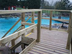 Brown Decking Strips, providing a safe viewing area.
