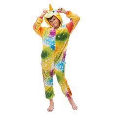Kigurumi Pajamas Kids Rainbow Fleece – alfagoody Onesie Pajamas, Fleece Pajamas, Boys Pajamas, Rainbow Costumes, Image Halloween, Animal Pajamas, Halloween Onesie, Animal Costumes, One Piece Pajamas