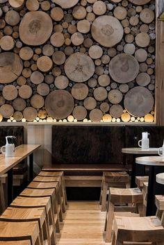 Эко стиль в дизайне кафе-ресторана