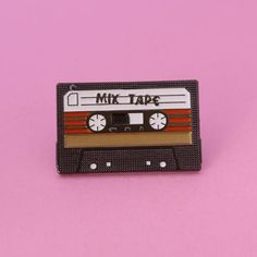 Mix tape Size // 1 x Material // soft enamel Plating // black nickel Clutch // metal or black rubber Number of pins made // limited 50 pcs The Bright Sessions, Jacket Pins, Star Lord, Cool Pins, Pin And Patches, Pin Badges, Black Rubber, Mixtape, Lapel Pins