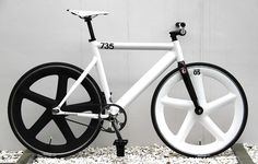 735 black and white fixed gear