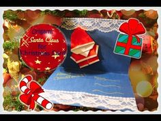 DIY How to make an origami SANTA CLAUS for CHRISTMAS card - YouTube