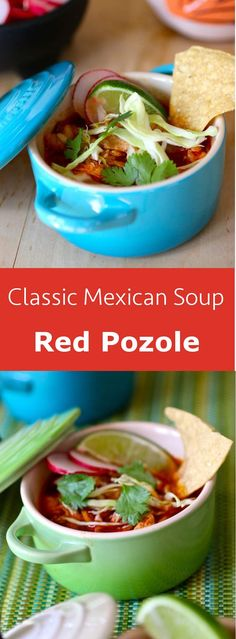 Pozole is a festive Mexican dish, a pre-Colombian soup or stew traditionally made with pork, chicken or shrimp and which includes hominy. #soup #glutenfree #mexico #mexican #196flavos