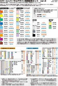 色覚の多様性に配慮した案内・サイン・図表等用のカラーユニバーサルデザイン推奨配色セット (バリアフリーに配慮した見分けやすい色の組み合わせ)