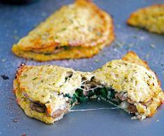 Cheese Mushroom and Spinach Cauliflower Crust Calzone!