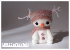 Torzer the Snowman - needle felted by Gabby Dexter at Flippity Felts