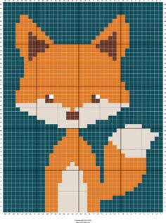 Stitch Fiddle is an online crochet, knitting and cross stitch pattern maker. Crochet C2c Pattern, Crochet Fox, Fox Pattern, Cross Stitch Pattern Maker, Cross Stitch Charts, Cross Stitch Patterns, Baby Boy Knitting Patterns, Baby Knitting, Cross Stitch Animals