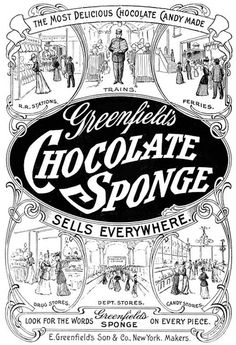 greenfields chocolate sponge 1908 by Captain Geoffrey Spaulding, via Flickr