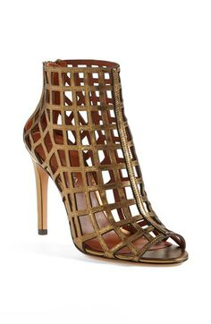 Via Spiga 'Elenora' Cage Bootie available at Nordstrom. Ankle Booties, Bootie Boots, Shoe Boots, Fashion Shoes, Fashion Accessories, Gladiator Boots, Caged Sandals, Glamour, Me Too Shoes