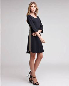 Vestido charmoso e elegante, perfeito para a estação! #vestidos #pretinho #basico #trabalho #elegante
