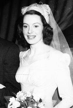 deborahkerr:  Deborah Kerr on the day of her wedding to Anthony Bartley, 28th November 1945  #MedicareWorld #RememberWhen
