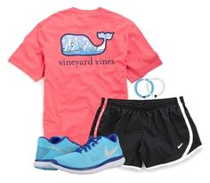 """going on a bike ride!"" by hayleighbrown11 ❤ liked on Polyvore featuring NIKE"