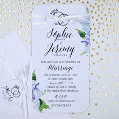 Personalised day evening invitation card floral wedding personalised formal day invitation tag wedding invitation card save the date stopboris Gallery
