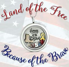 Origami Owl. Home of the Brave. Military. -£H
