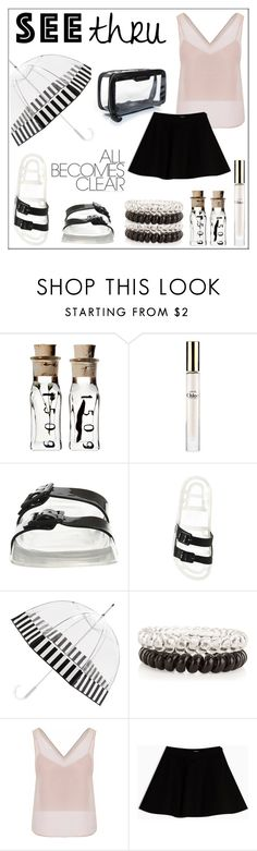 """""""It's All Clear Now: See Thru Fashion"""" by pat912 ❤ liked on Polyvore featuring Chloé, JuJu, New Look, WtR London, Anya Hindmarch, Max&Co., clear, polyvoreeditorial and seethrough"""