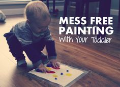 Now that the weather is colder and wetter, I've been busy searching for indoor activities to do with my 18 month old son.That's when I came across this easy, mess free activity for lit…