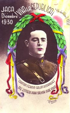 El capità Fermín Galán Rodríguez (San Fernando, Cadis, 1899 - Osca, 1930) militar espanyol #postalsIIRepublica #CRAIBibrepublica #CRAIUB Balearic Islands, Magazines, Spanish, War, Baseball Cards, History, Quotes, Books, Movie Posters