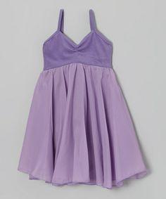 Look at this #zulilyfind! Lilac Babydoll Skirted Leotard - Girls by Ballerina Girl #zulilyfinds